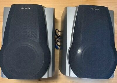 $99.50 • Buy 2 Ea AIWA Speakers SX-WNAL50 3 Way  SUBWOOFER  TOTAL 200 WATTS Tested Works