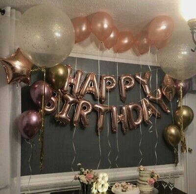 £2.99 • Buy Large Happy Birthday Self Inflating Balloon Banner Bunting Party Decoration Uk