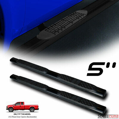 $142 • Buy For 99-16 Ford F250 Super Cab 5  Tube Blk Side Step Nerf Bars Rail Running Board