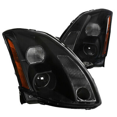 $189.99 • Buy For Nissan Maxima Black Clear Projector Headlights Pair