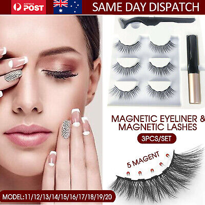 AU12.99 • Buy Eye Lashes Extension Magnetic False Eyelashes Natural Liquid Eyeliner Tweezer AU