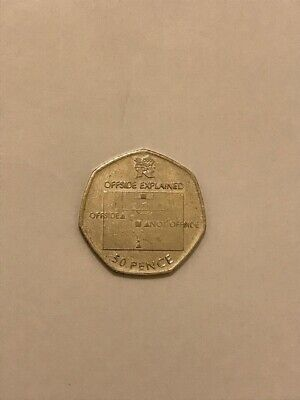 50p Olympic Football Coin Offside Rule 2011 - Circulated. • 18£