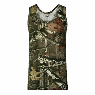 £4.59 • Buy Mens Camouflage Camo VEST Top T-Shirt Hunter Real Tree Jungle Forest Print