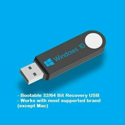 AU20.95 • Buy Recover/ Repair Or Reinstall Win 10 Pro OS - USB Or Disk Tools