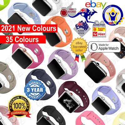 AU5.39 • Buy NEW Sport Silicone Strap Band For Apple Watch Series SE 6 5 4 3 21 38 40 42 44mm
