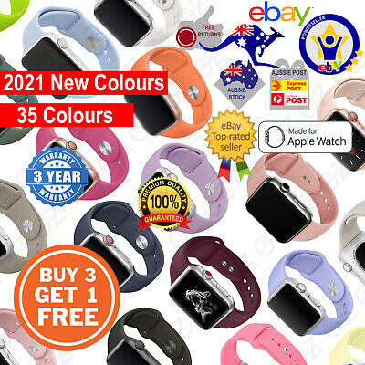AU5.45 • Buy NEW Sport Silicone Strap Band For Apple Watch Series SE 6 5 4 3 21 38 40 42 44mm