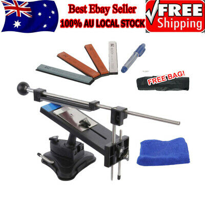 AU38.69 • Buy Professional Chef Knife Sharpener Kitchen Sharpening System Fix Angle 4 Stones