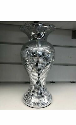 AMAZING ROMANY SILVER MIRRORED SPARKLE VASE, LOVELY Bling 26cm NEW_UK • 23.99£