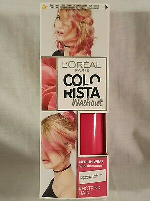 L'OREAL - Colorista Washout Hot Pink Semi-Permanent Hair Dye Colour - BRAND NEW • 4.99£
