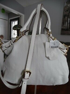 $ CDN99.99 • Buy NWT DANIER Chalk White Convertible Leather Bag