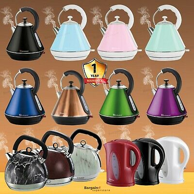 Electric Kettle 1.7L 1.8L LED 360 Cordless Rapid Boil Lime Scale Filter 2200W • 17.95£