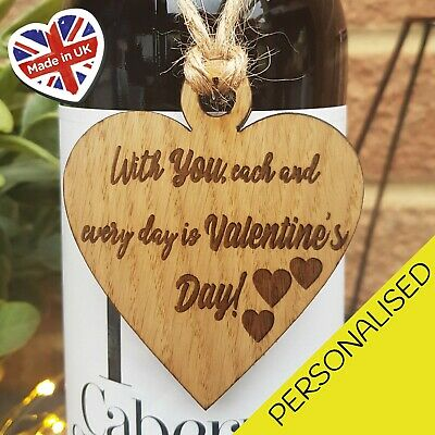 AU3.74 • Buy Valentines Day Gift Wooden Heart Husband Wife Boyfriend Gift For Him For Her