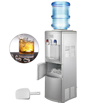 $259.99 • Buy Water Cooler Dispenser With Ice Maker Hot And Cold Top Loading 2 In 1 Silver