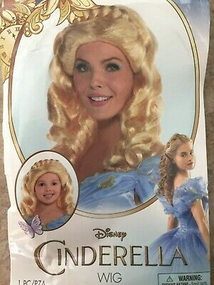£14.41 • Buy Disney Cinderella Wig For Women And Child Kids One Size All Ages Brand New