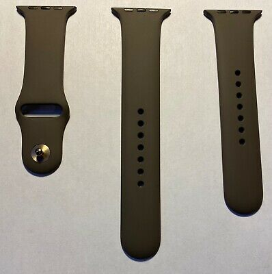 $ CDN139.61 • Buy Apple Watch Cocoa Sport Band W Gold Pin Series 0 1 2 3 42mm 4 & 5 44mm Brown OEM