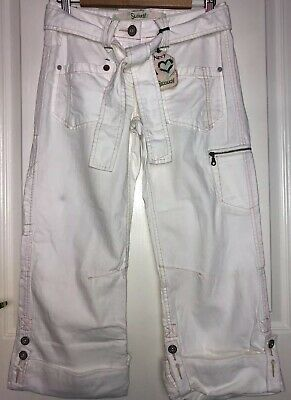 Next Petite White Slouch Roll Up Jeans Size UK 6 BNWT • 12.99£