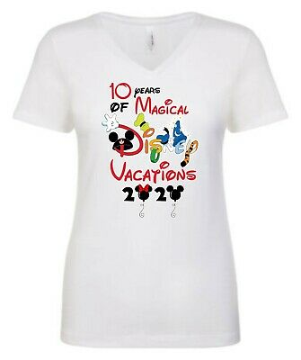 $14.99 • Buy 10 Years Of Magical DISNEY VACATION 2020 T-SHIRTS WITH Mickey And Friends