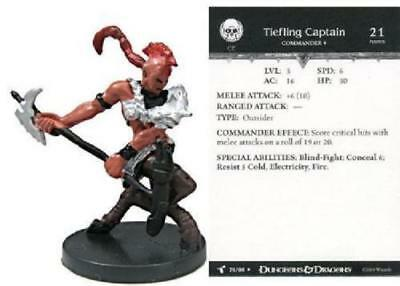 $ CDN6.35 • Buy D&D Mini - TIEFLING CAPTAIN  #76  (Harbinger Series - HARD TO FIND With CARD!!)