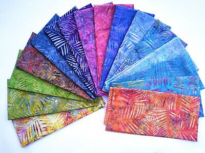 Batik Fabric, Palm Leaf, 100% Cotton,Crafting, Quilting Patchwork • 3.20£