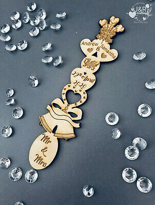 Personalised Wooden Love Spoons, Favours, Table Decorations, Vintage Wedding • 2.69£
