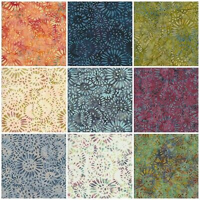 Batik Fabric, Sunflower Print, 100% Cotton, FQ ,Crafting, Quilting Patchwork • 3.20£