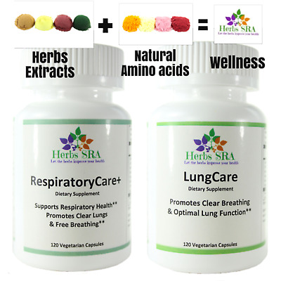 Strong Lungs Eucalyptus, Licorice Root 240 Capsules 2 Formulas Lungs Nutrients. • 22.61£