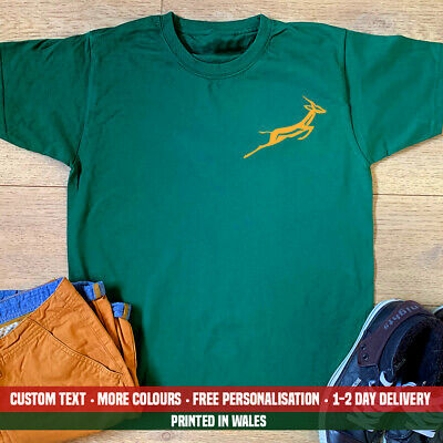 Springbok Pocket T Shirt Rugby Springboks South Africa Fathers Day Birthday Gift • 10.99£