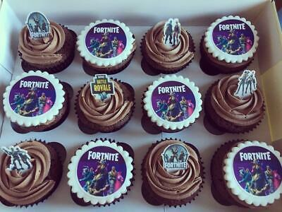 £5.95 • Buy FORTNITE 15 X PERSONALISED  EDIBLE CUPCAKE TOPPERS  - SAVE £ ON OUR CAKE SETS