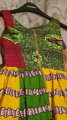 Pretty African Print Dress For Girls Age 3-4 Years • 20£