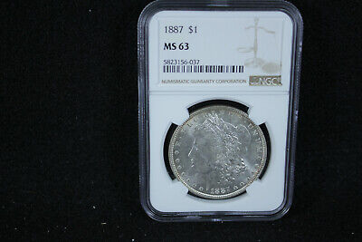 $48 • Buy 1887 Morgan Silver Dollar NGC MS 63