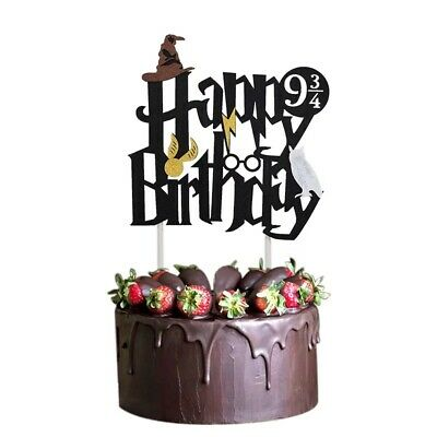 AU8.95 • Buy Harry Potter Cake Topper Party Decorations Decor