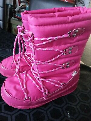 Fitflop Girls Blizz Boot Pink  Size Uk 02 Eur 35 • 15£