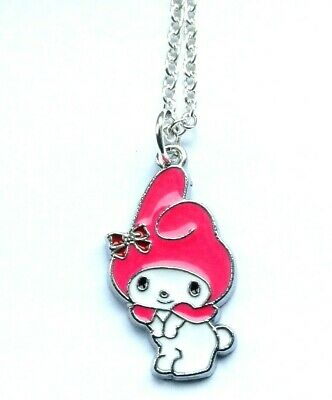 Cute My Melody Pink Charm Pendant Necklace Hello Kitty In Gift Bag Kawaii • 2.99£