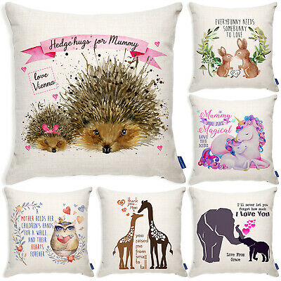Personalised Mothers Day Gift Cushion Cover Birthday Christmas Mum Pillow • 12.95£