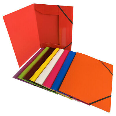 £2.49 • Buy Janrax A4 Laminated Card 3 Flap Folder With Elastic Closure - Document File