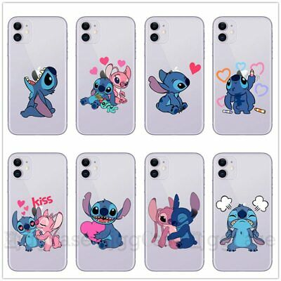 For Apple IPhone 11 Pro Max XS 8 Blue Stitch Cute Cartoon Case Cover Soft Cover • 3.94£