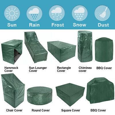 £18.59 • Buy Garden Patio Furniture Cover Water Resistant For Table Chair Bench Hammock BBQ