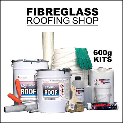 £39.95 • Buy GRP Fibreglass Flat Roofing Kit 600g 1 Square Meter. Includes Tools & Topcoat