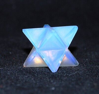 Reiki Energy Charged Opalite Merkaba Star Natural Crystal Healing Promotes Calm • 8.99£