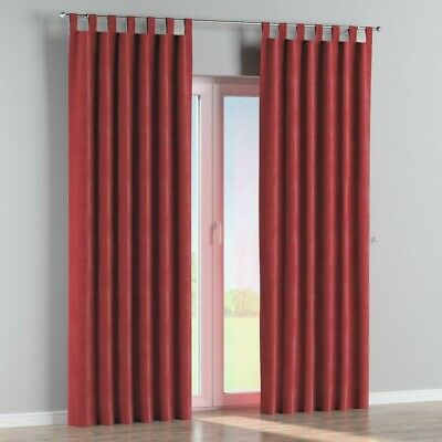 Red/berry/claret/wine  100% Cotton Canvas  Curtains  66  X 72   Tab Top  • 18.99£
