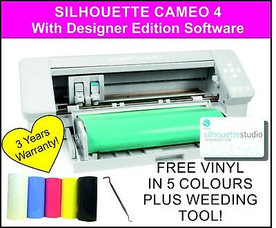 Silhouette Cameo 4 - With Designer Edition Software, Cutting Machine, Plotter • 396.80£
