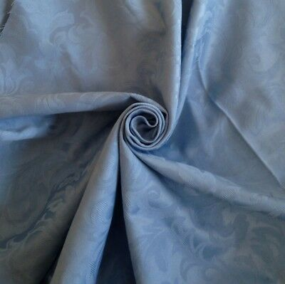 Blue Jacquard Damask Brocade Fabric Perfect For Medieval Reenactment Clothing  • 4.99£