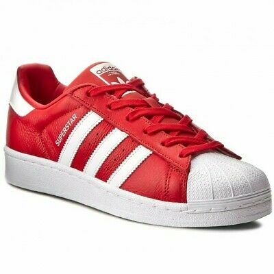 $ CDN92.76 • Buy Adidas Superstar Shell Toe Mens Size 9.5 Classic Sneakers Red White Shoes BB2240