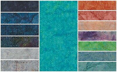 Batik Fabric, Dots Design, 100% Cotton, FQ ,Crafting, Quilting Patchwork • 3.20£