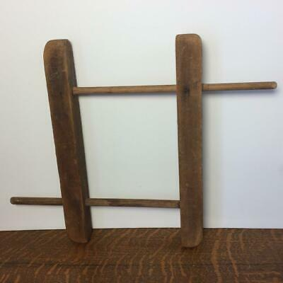 Antique Primitive NIDDY NODDY Wood Yarn Twine String Winder Holder String Rope • 21.27£