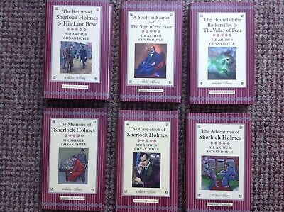 Arthur Conan Doyle From The Collectors Library - Set Of 6 Sherlock Holmes Books • 15£