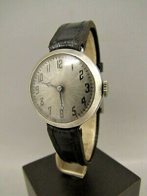 Vintage Wilsdorf And Davis UNICORN ROLEX SILVER TRENCH WATCH C 1920s • 500£