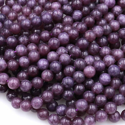 $21.99 • Buy Lepidolite 4mm 6mm 8mm Beads Natural Maroon Purple Gemstone 16  Strand