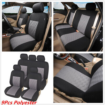 $ CDN46.99 • Buy 9Pc Universal Car Polyester Seat Covers Cushion Front Rear Full Set For 4-Season