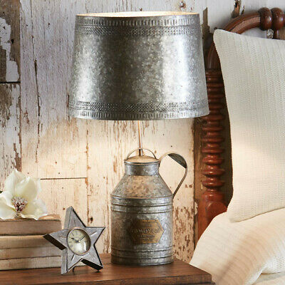 $159 • Buy Primitive Antique Milk Can Lamp With Tin Shade Farmhouse FREE SHIPPING